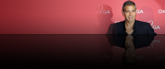 George Clooney OMEGA banner at celebrity.co.uk - celebrity agents