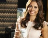 Melanie Sykes for Lyons Coffee Bags feature at Celebrity Group