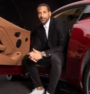 Rio Ferdinand for Aston Martin feature at Celebrity Group