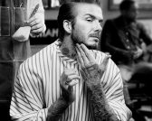 David Beckham for L'Oreal feature at Celebrity Group