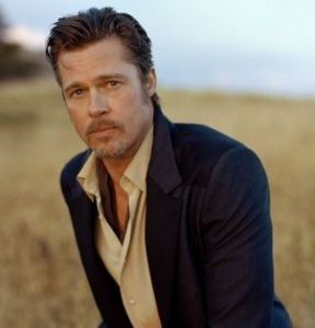 Brad Pitt for Breitling feature at Celebrity Group