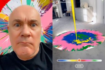 Damien Hirst for Snapchat
